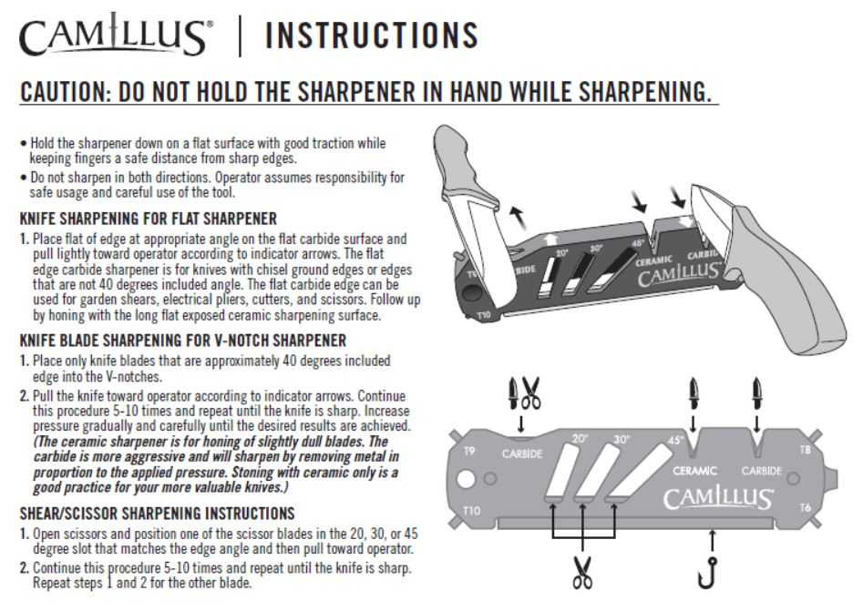 How do I use my Camillus Glide Sharpener, #19224? – Acme United